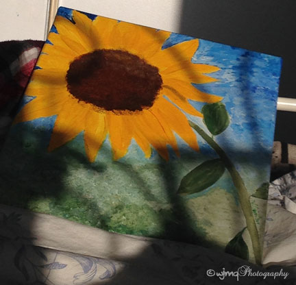 picture of sunflower painting