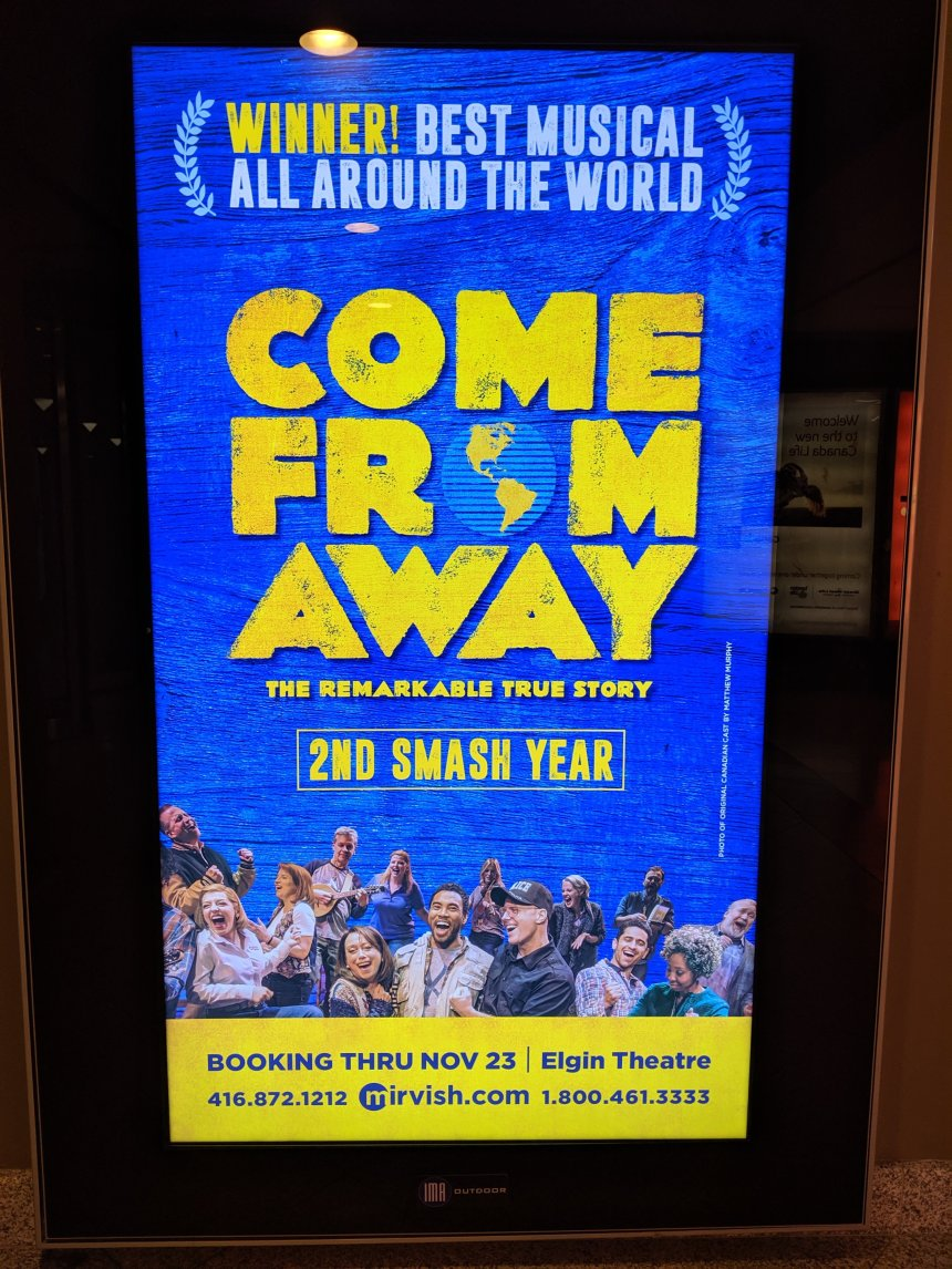 Come from Away advertisement