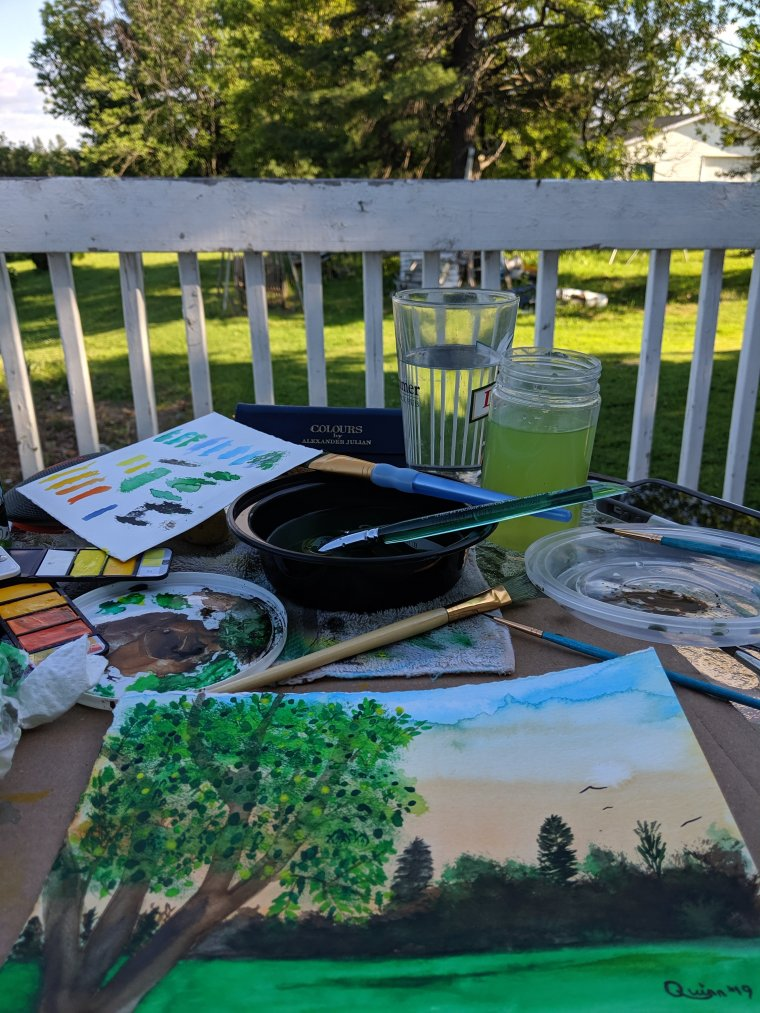 Pleinair painting