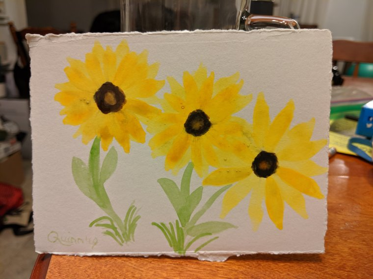 Sunflowers watercolor painting