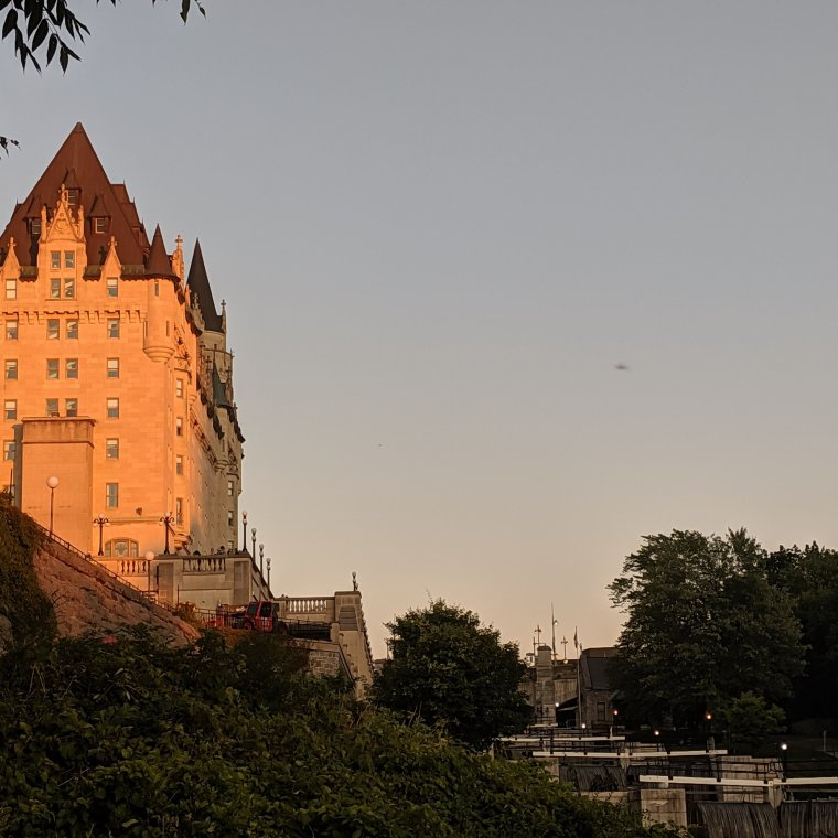 Chateau Laurier in the glow of sunset