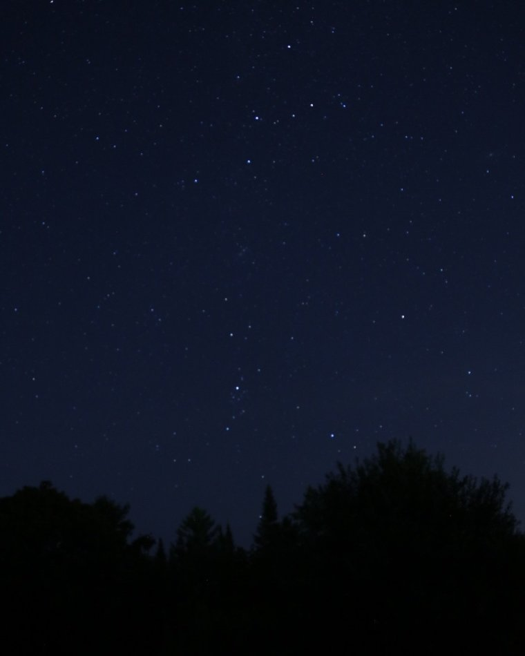 Cassiopeia constellation, night sky