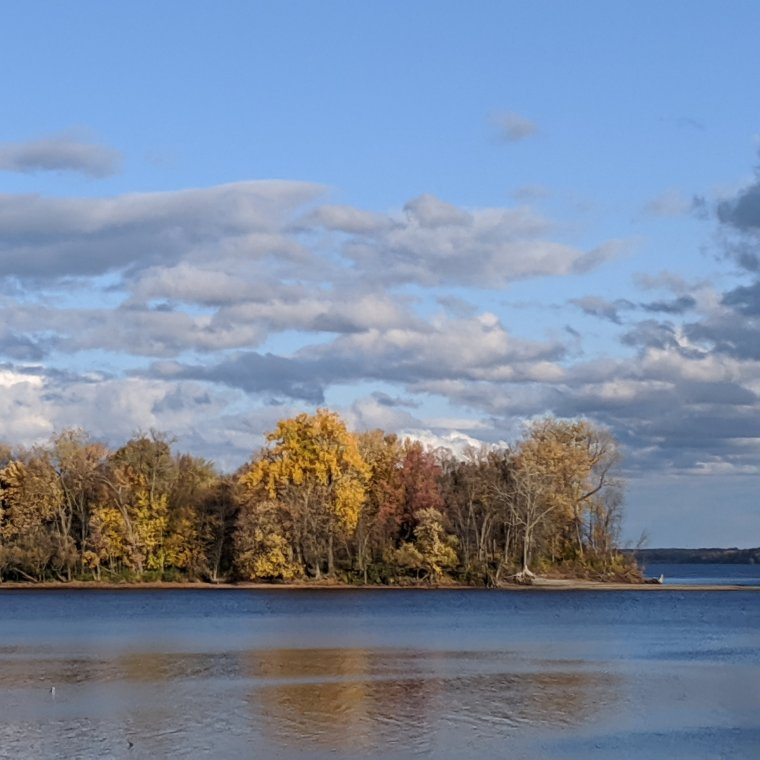 Island with fall colors
