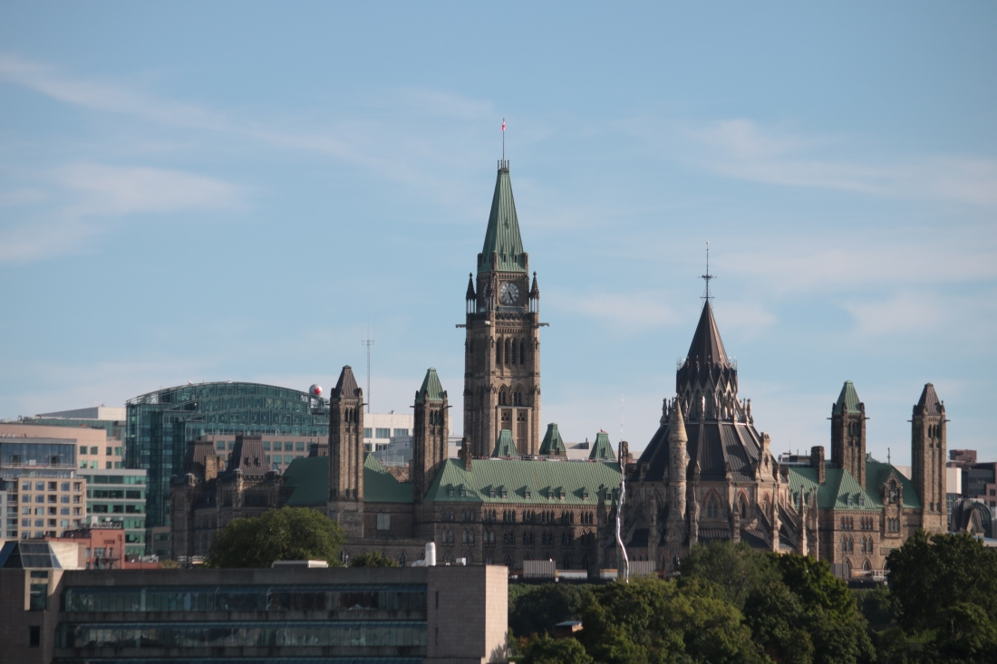 The peace tower, parliament buildings and library of parliament